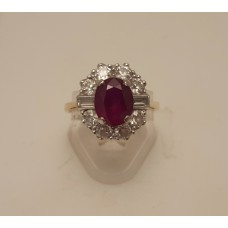 SOLD  2ct NATURAL RUBY, 1ct of DIAMONDS