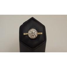 18ct GOLD, VINTAGE DIAMOND RING