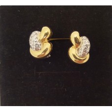 18ct GOLD, DIAMOND EARRINGS