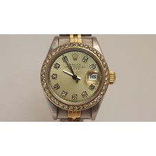 SOLD  ROLEX LADIES OYSTER PERPETUAL, 18ct GOLD & STAINLESS STEEL