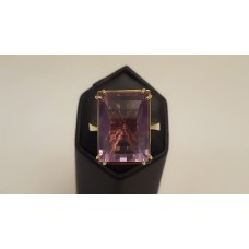 SOLD  AMETHYST in 18ct GOLD