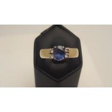 SOLD  Sapphire & Diamond Ring