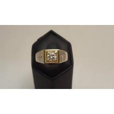 SOLD  0.52ct DIAMOND, 18ct GOLD MEN'S RING