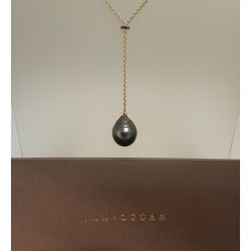 SOLD  TAHITIAN PEARL & BLACK DIAMONDS