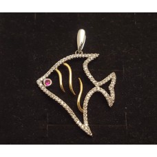 RUBY & DIAMOND FISH PENDANT