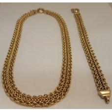 SOLD  18ct GOLD NECKLACE & BRACELET