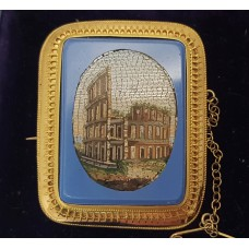 ANTIQUE MICRO MOSAIC BROOCH/PENDANT