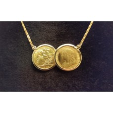 SOLD  GOLD HALF SOVEREIGN PENDANT