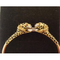 18ct GOLD & RUBY LEOPARD BANGLE