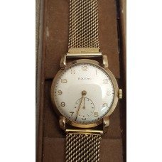 9ct GOLD VINTAGE BAUME WATCH