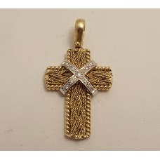 18ct GOLD & DIAMOND CROSS