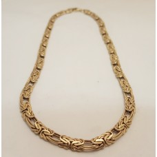 FANCY LINK 9ct GOLD NECKLACE