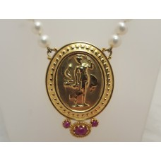 SOLD  TAGLIAMONTE 14ct GOLD RUBY SET PENDANT