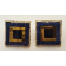 TIGER EYE, LAPIS LAZULI & ONYX EARRINGS