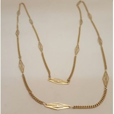 18ct GOLD, LONG NECKLACE