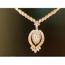 SOLD  14ct GOLD, 2.25ct T.W. of DIAMONDS NECKLACE
