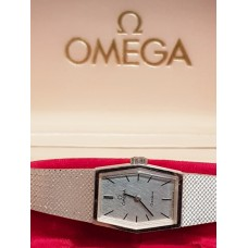 18ct WHITE GOLD VINTAGE OMEGA WATCH