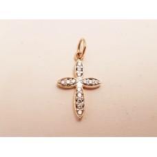 18ct GOLD & DIAMOND CROSS