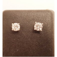 18ct, D Colour Diamond Earrings