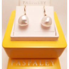 18ct GOLD, PASPALEY PEARL EARRINGS