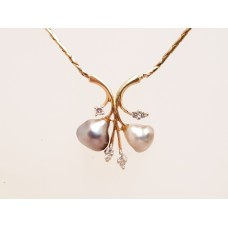 18ct GOLD KESHI PEARL NECKLACE