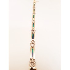 BLACK OPAL & DIAMOND BRACELET