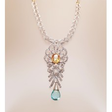 3.70ct's of DIAMONDS, CITRINE & TOPAZ NECKLACE