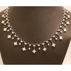18ct WHITE GOLD, DIAMOND NECKLACE