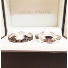 18ct WHITE GOLD GEORG JENSEN FUSION RINGS