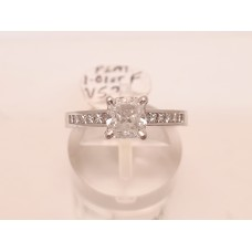 1.01ct, F, VS2 CUSHION CUT DIAMOND