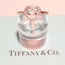 DIAMOND & PLATINUM TIFFANY HEART RING