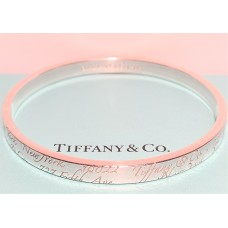 "TIFFANY ""NOTES"" STERLING SILVER BANGLE"